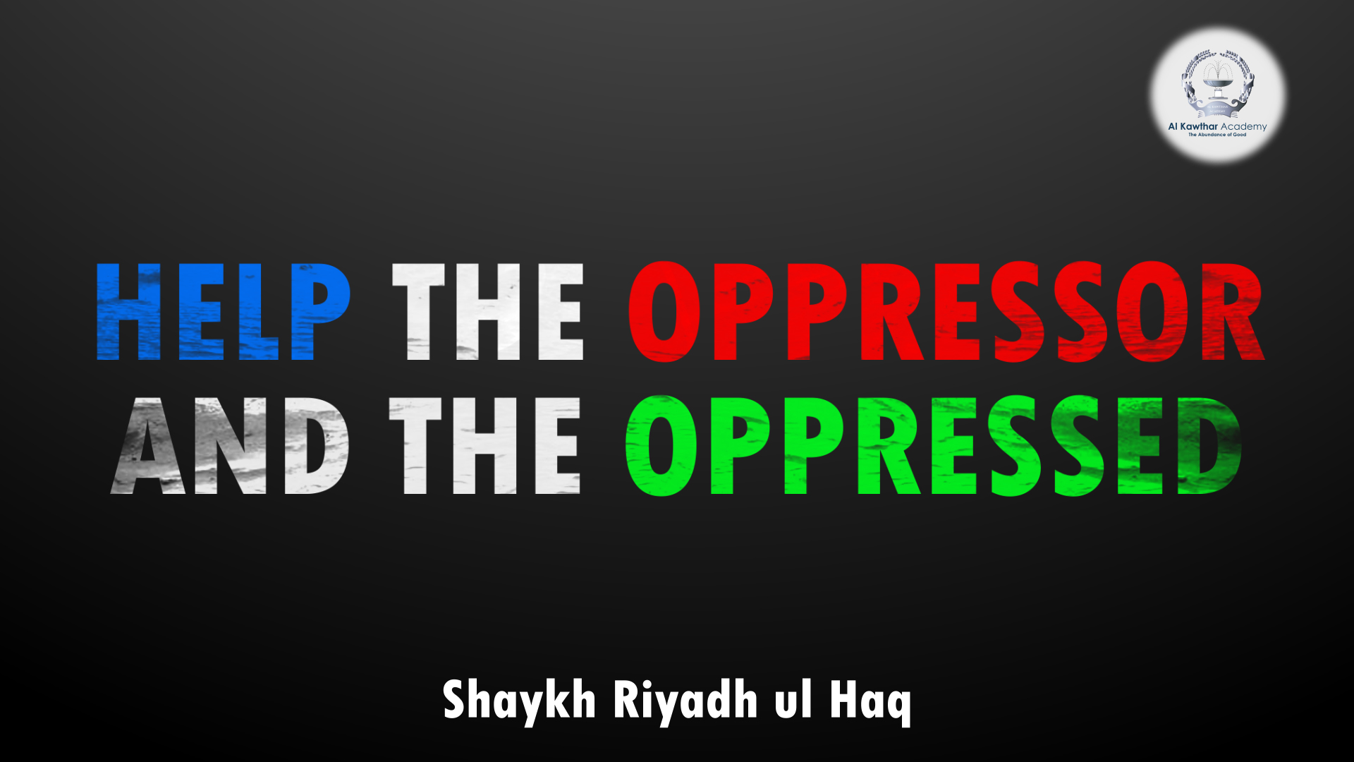 oppression and the oppressed