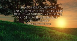 Ramadan is a Quarantine