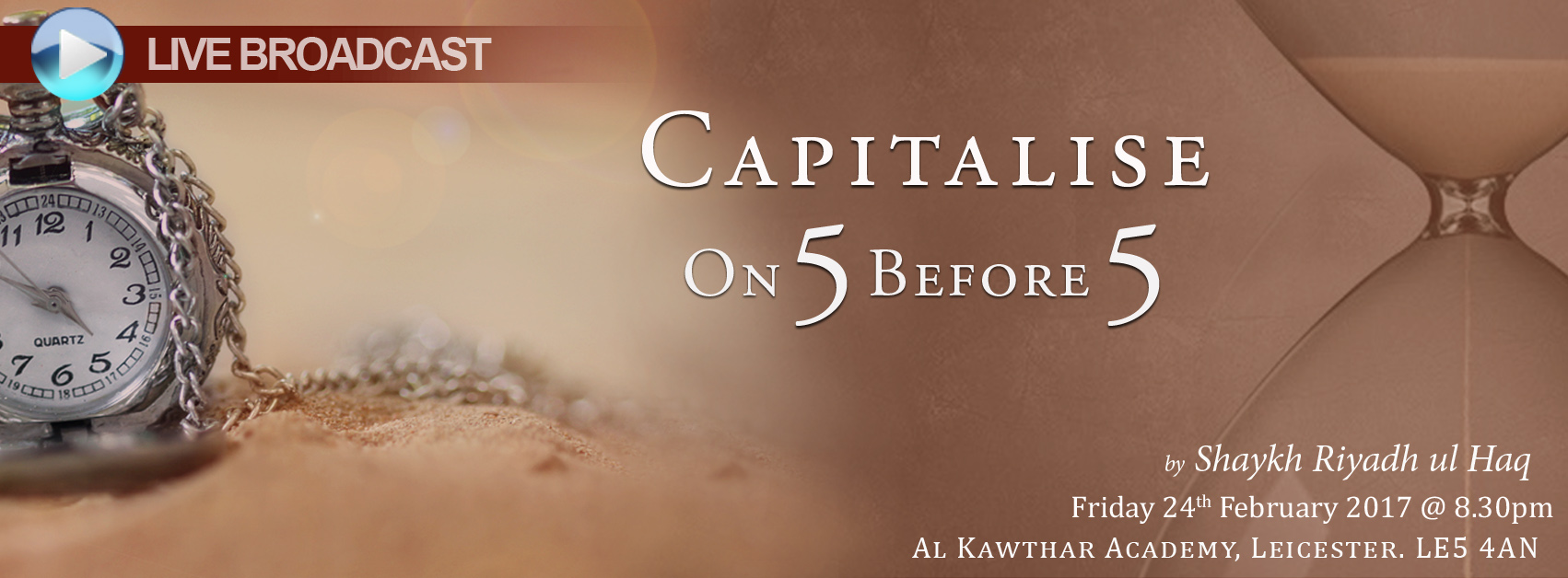 CAPITALISE ON 5 BEFORE 5