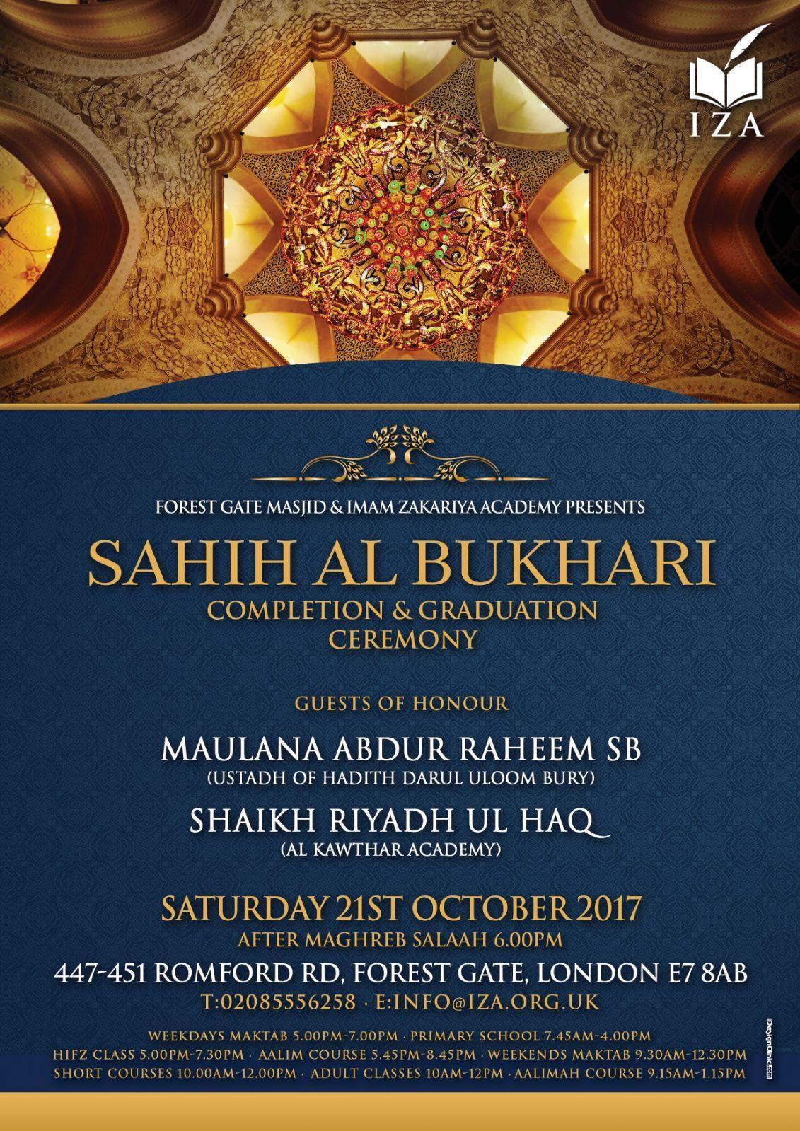 Sahih Al Bukhari Completion & Graduation Ceremony
