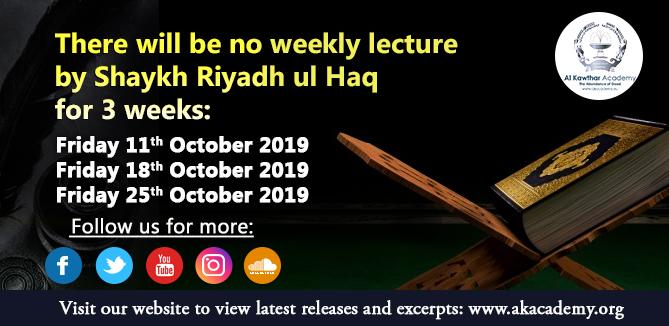 No Weekly Dars - October 2019