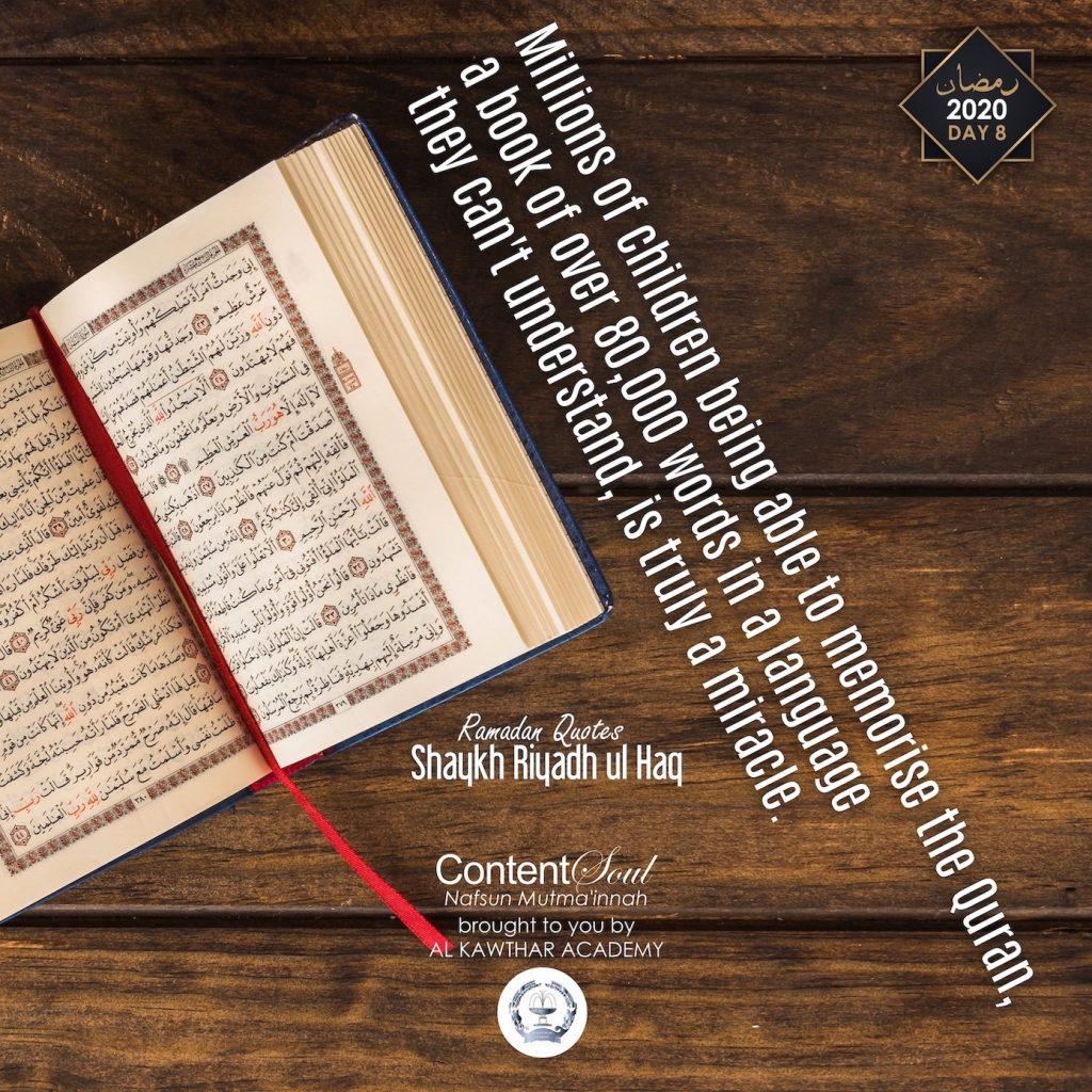 Ramadan 2020 Day 8